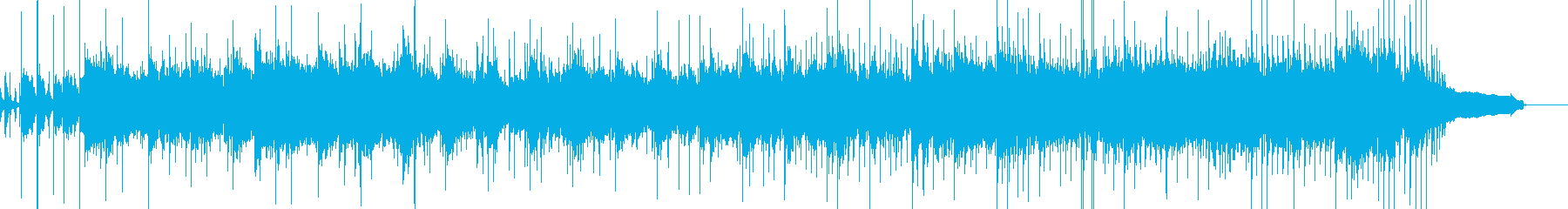 ハードなロックミュージックの再生済みの波形