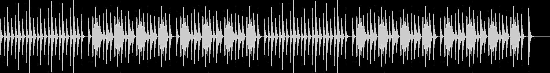 YouTube、コミカルなピアノ、日常の未再生の波形