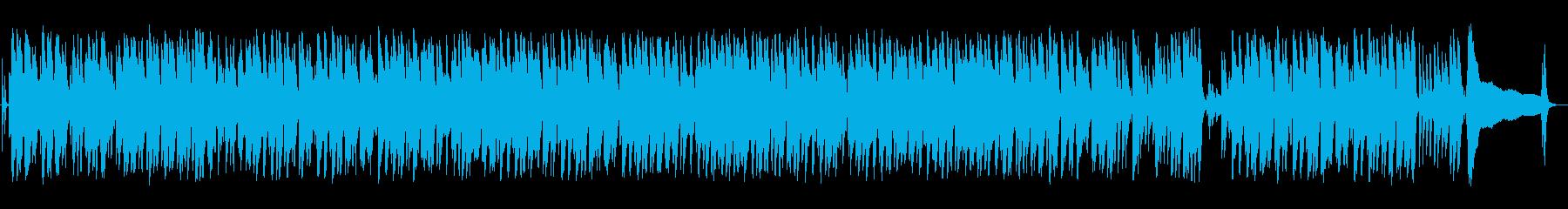 ウクレレの音が軽快なハワイアン音楽の再生済みの波形