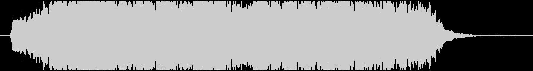 華やかなオケによるオープニングジングルの未再生の波形