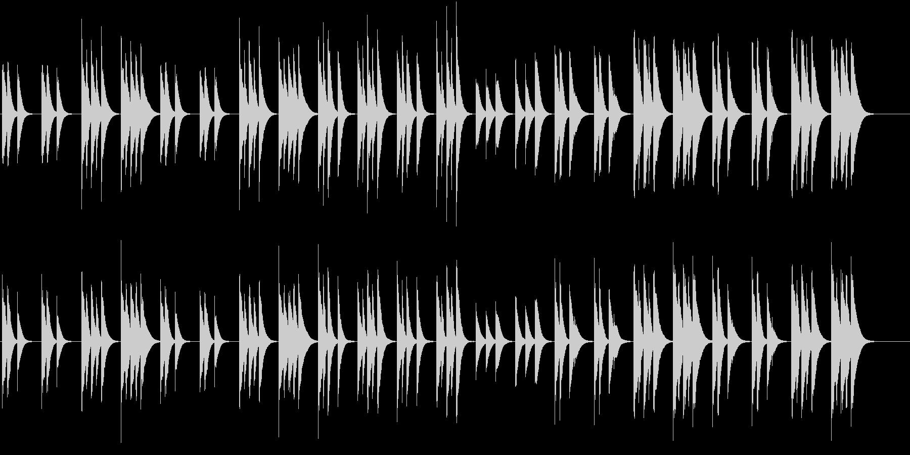 木琴の音で作ったのんびりした短い曲の未再生の波形