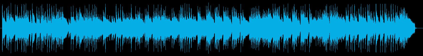 哀愁感あるアコギBGMの再生済みの波形