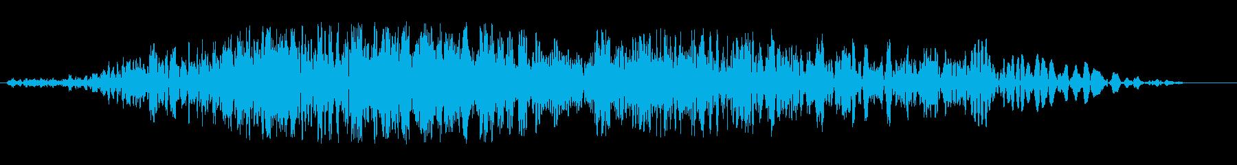 シュイビシューン(風の音)変化系の再生済みの波形