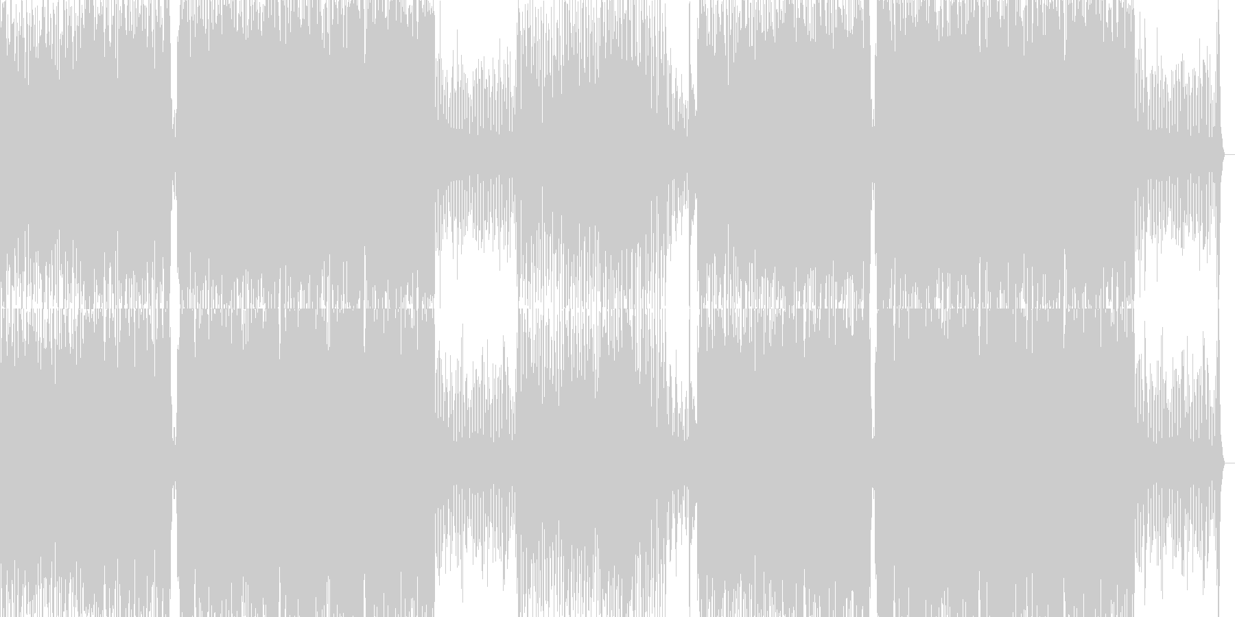 高揚感と伝染性のあるテクノサウンドの未再生の波形