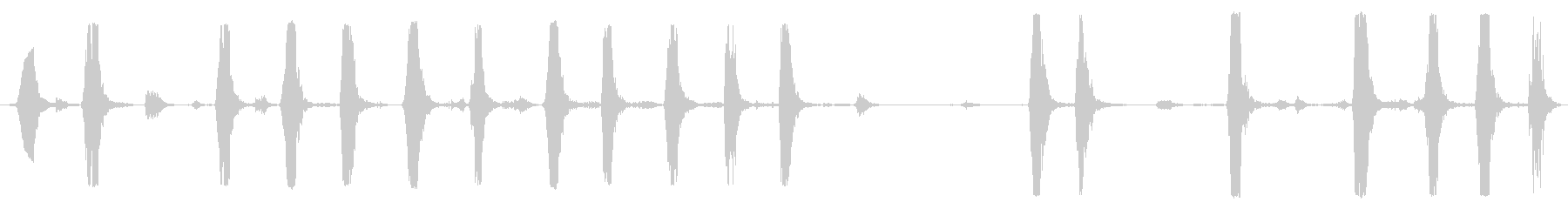 中型犬、バーキング犬の未再生の波形