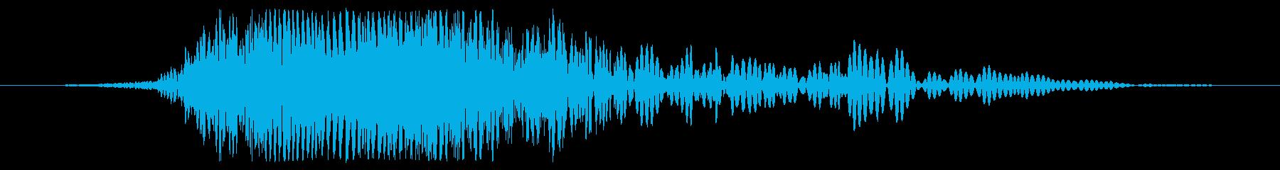 急速な爆発的な流星の地面への衝撃、...の再生済みの波形
