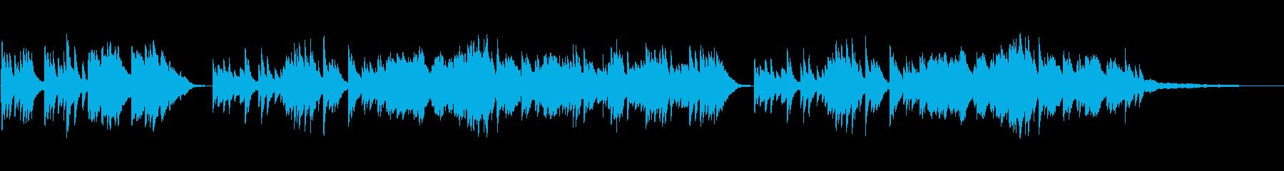 悲しく美しいピアノヴァイオリン曲の再生済みの波形
