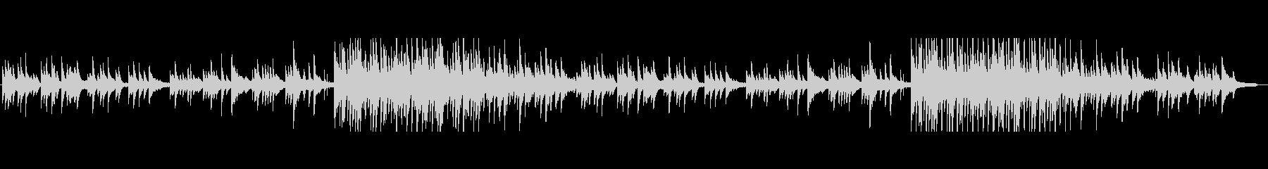 ピアノのしっとり系短調バラードの未再生の波形