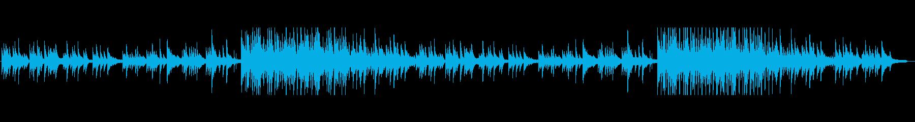 ピアノのしっとり系短調バラードの再生済みの波形