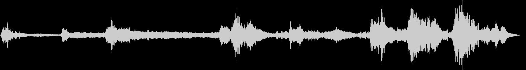 銀河電波-複雑な無線静的高ピッチテ...の未再生の波形