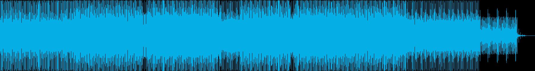 ドローンアンビエントなミニマルハウスの再生済みの波形
