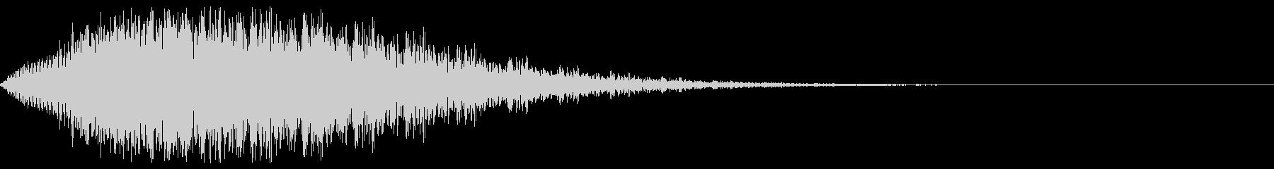 奇妙なピアノの低音の未再生の波形