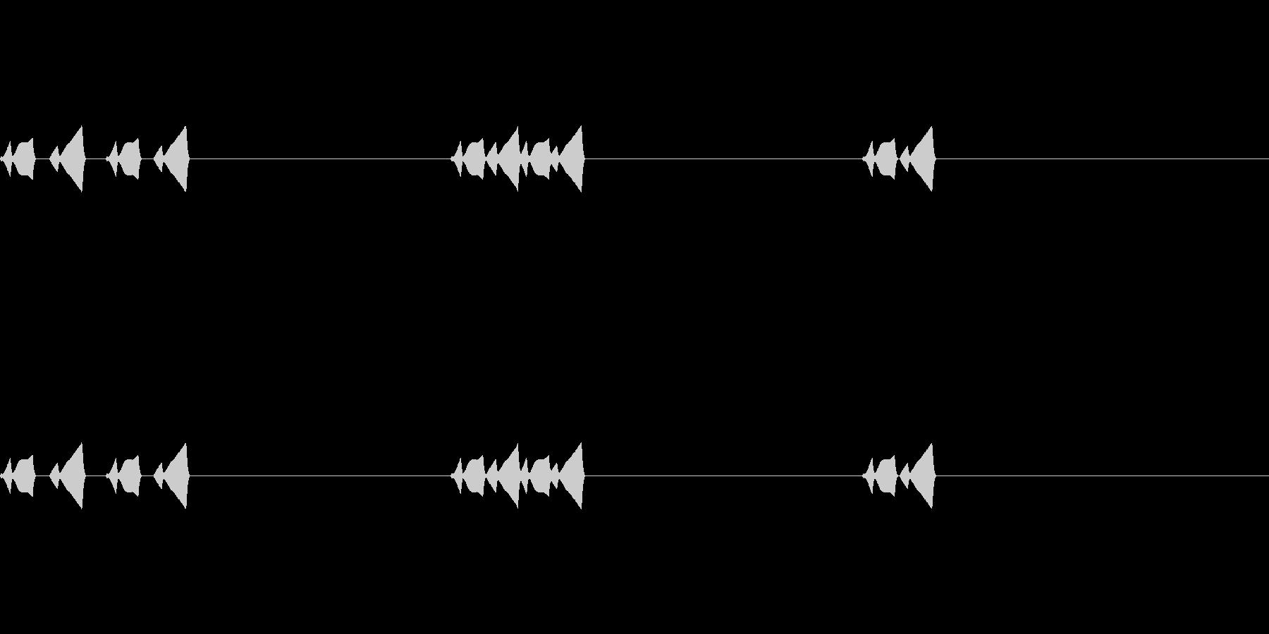コミカルなSE(ピクピク)_その1の未再生の波形