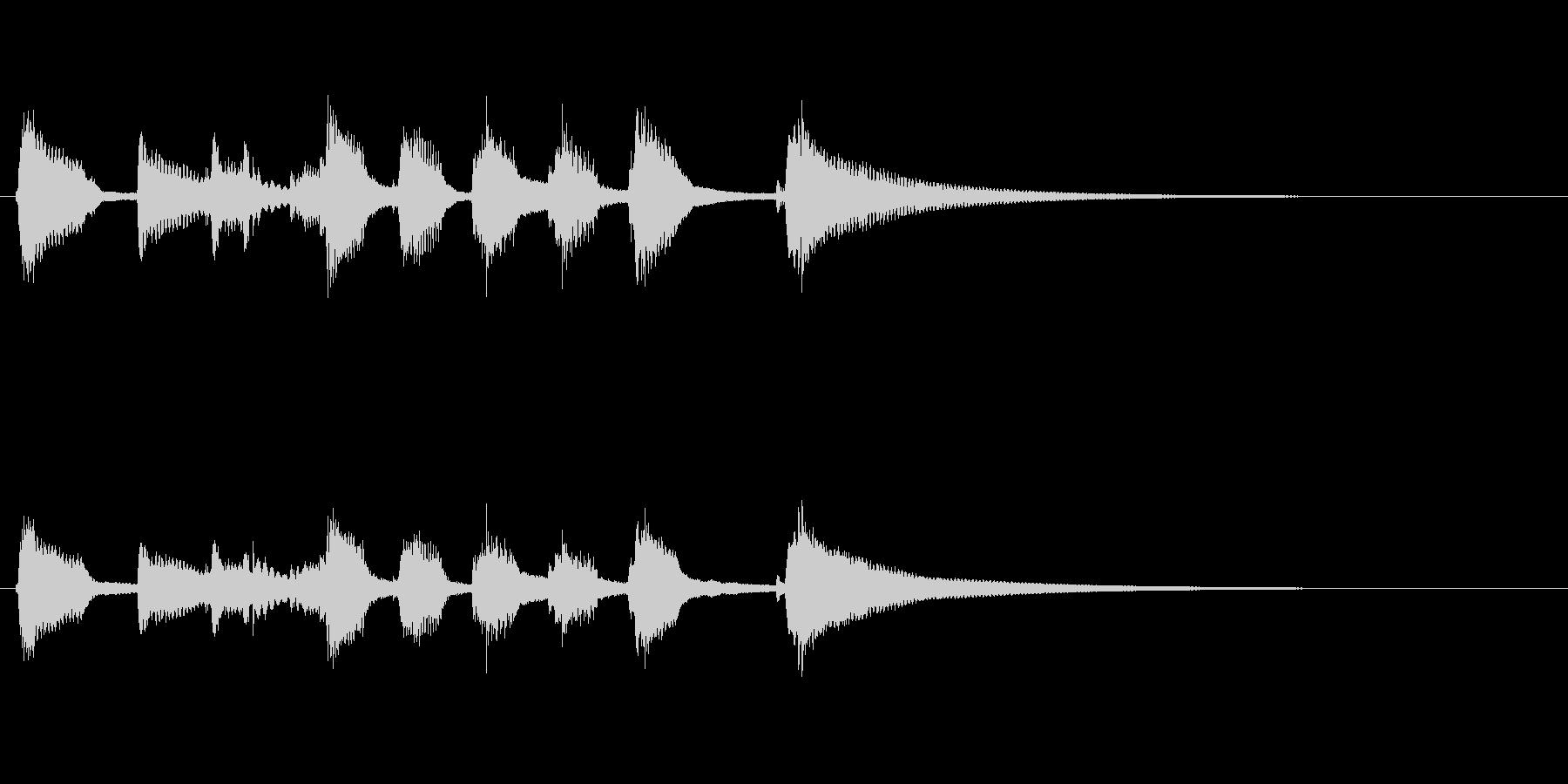 鉄琴とウクレレの明るいジングルの未再生の波形