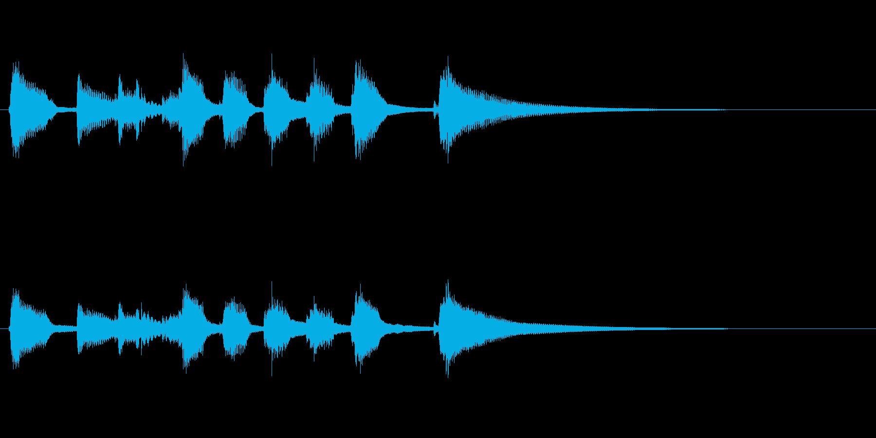 鉄琴とウクレレの明るいジングルの再生済みの波形