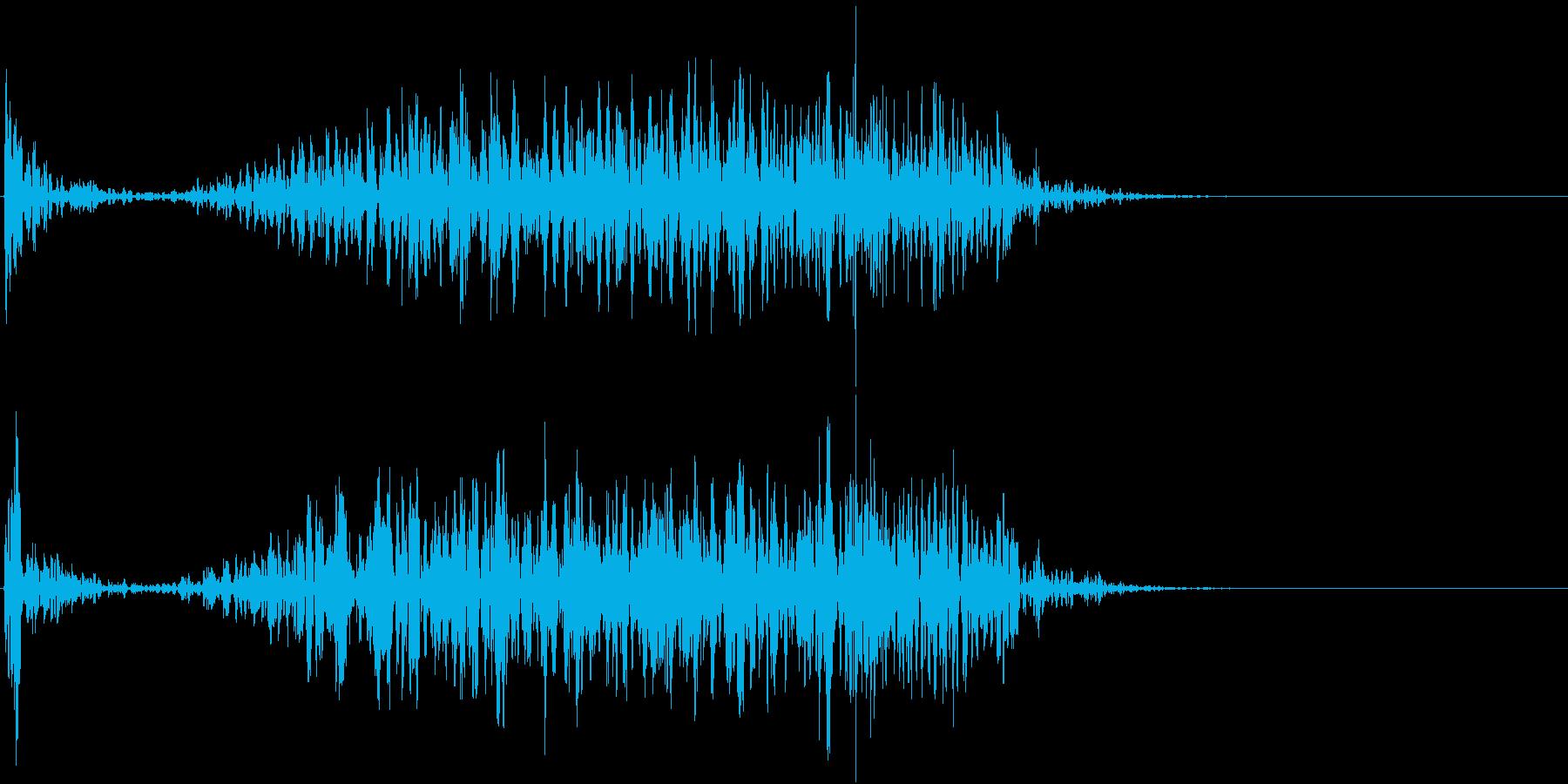 【生録音】テーブルを引っ掻く音 3の再生済みの波形