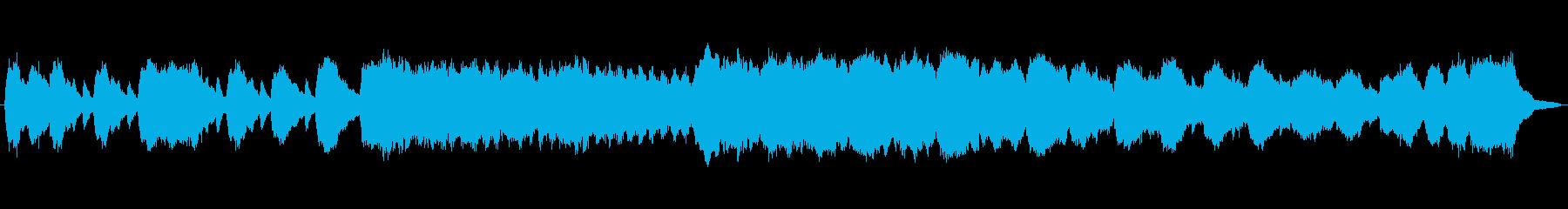 明るく華やかなパイプオルガンの曲の再生済みの波形