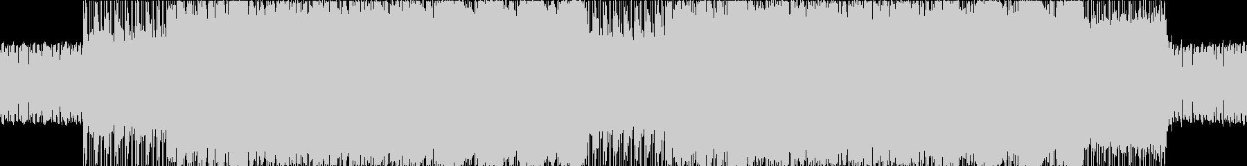 激しいドラムンベース風BGMの未再生の波形