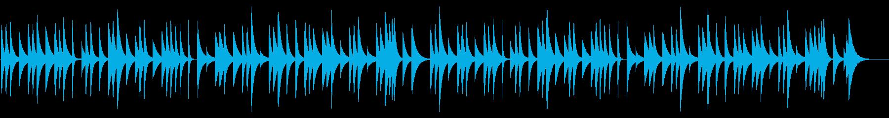 ブラームスの子守唄 18弁オルゴールの再生済みの波形