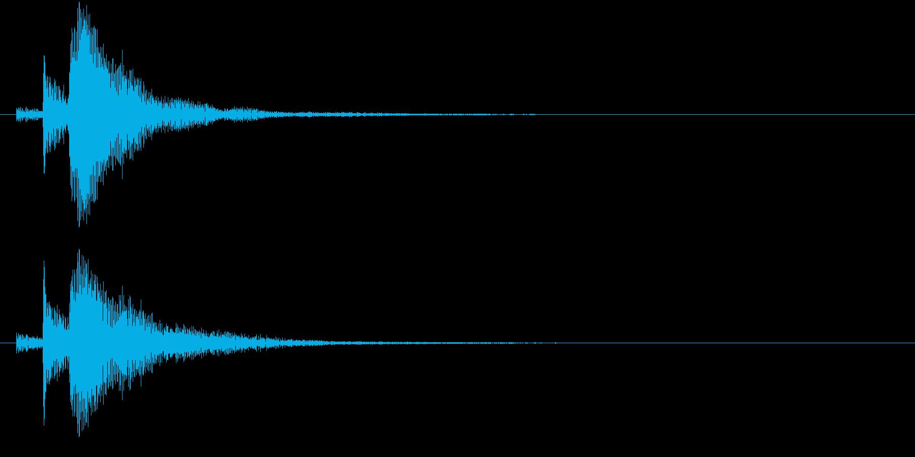 インドの桶太鼓Dholドール連打音+FXの再生済みの波形