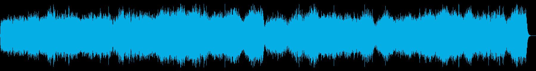 ゾンビ・ホラー系で緊張感のあるBGMの再生済みの波形