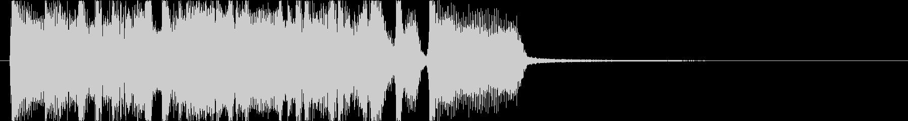 メタル、ハードロック調での場面転換の未再生の波形