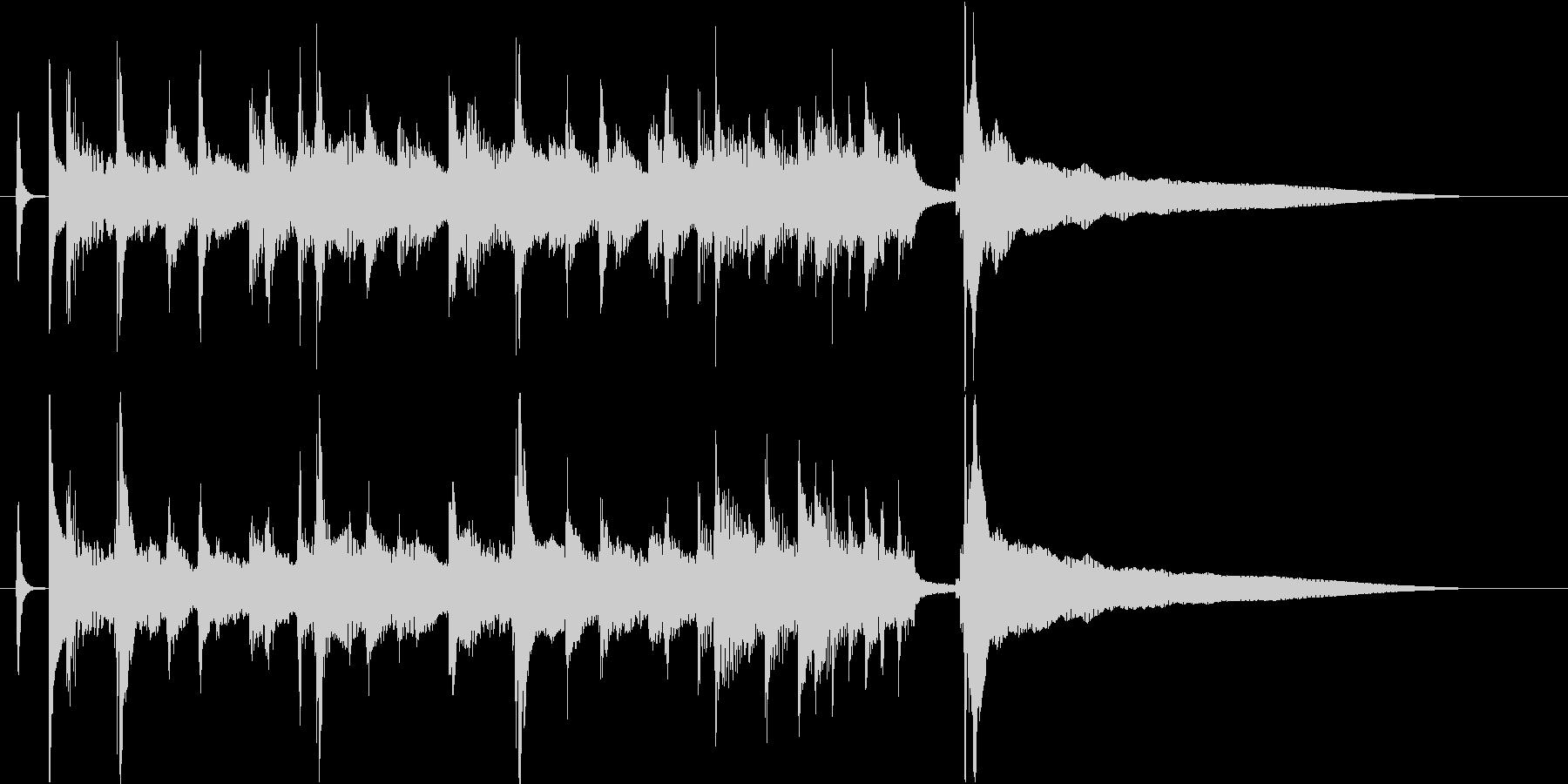 爽やかウクレレとピアノのジングル/10秒の未再生の波形