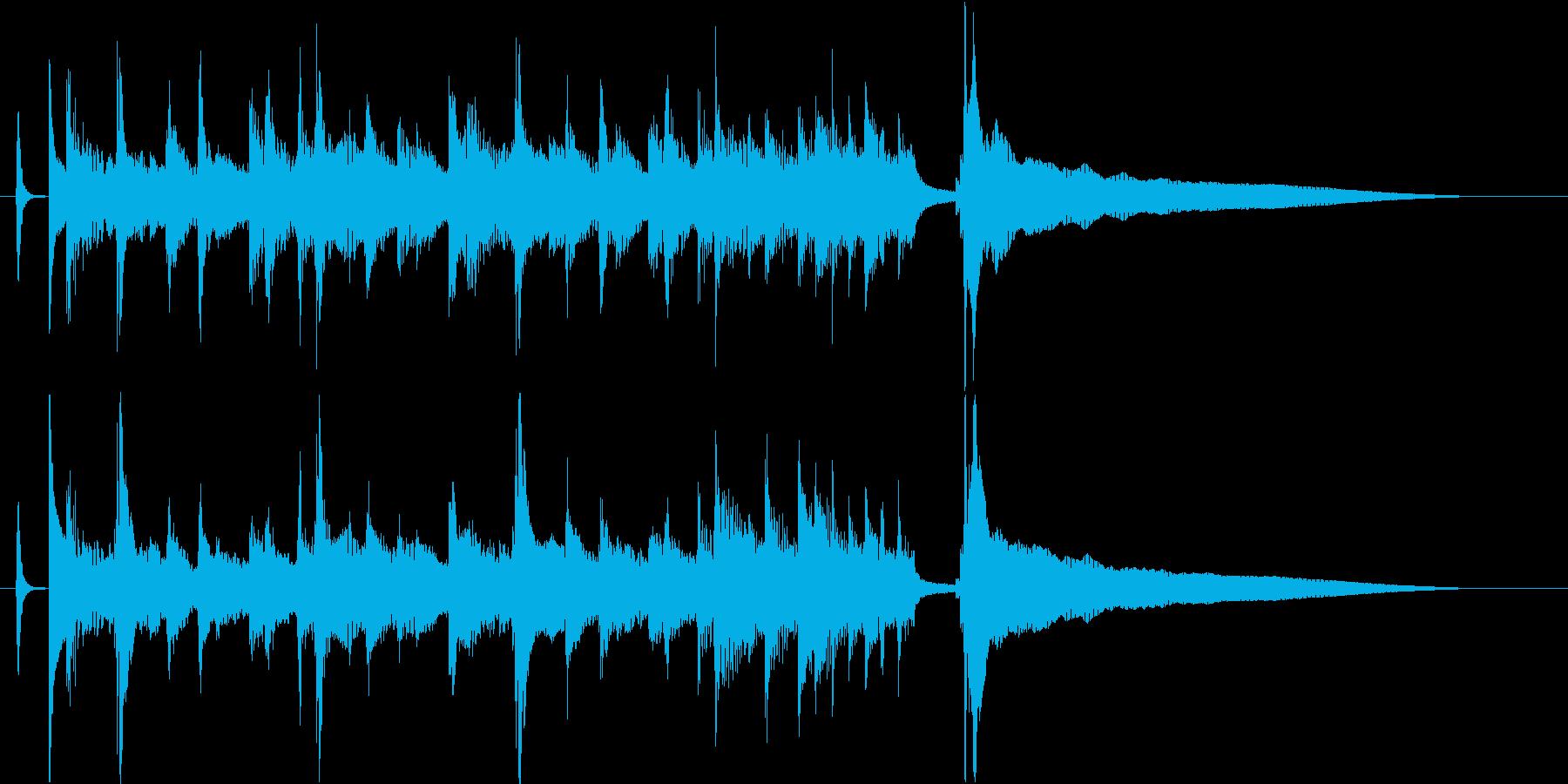 爽やかウクレレとピアノのジングル/10秒の再生済みの波形