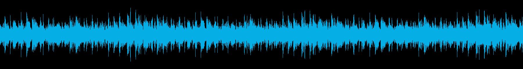 生演奏、ジャングル的民族打楽器ループの再生済みの波形