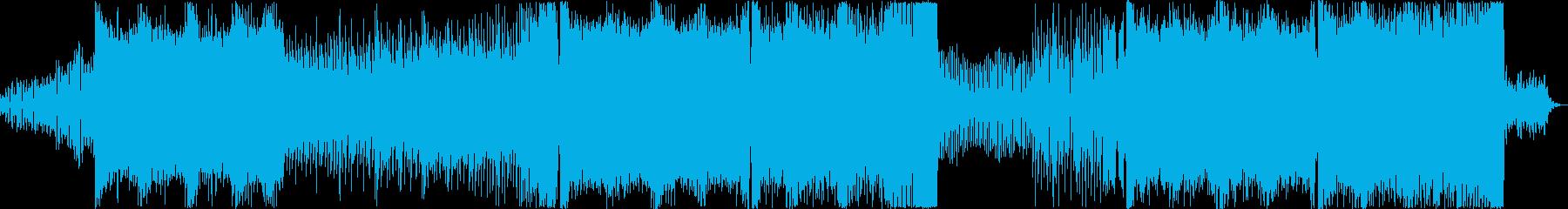 激しくて盛り上がるフロア仕様のEDMの再生済みの波形