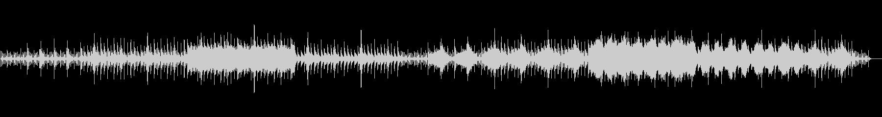 ピアノを使用したミニマルなアンビエントの未再生の波形
