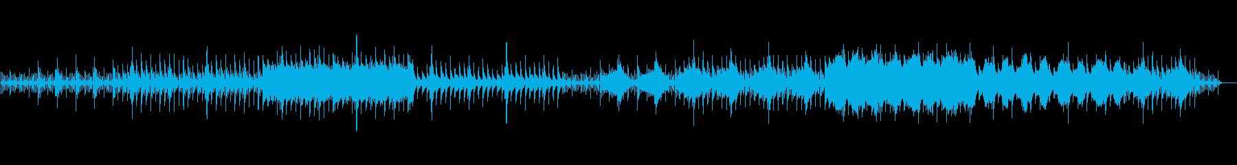 ピアノを使用したミニマルなアンビエントの再生済みの波形