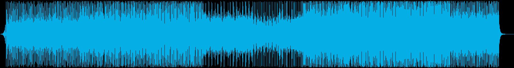 スピード、高揚感のあるエレクトロ-テクノの再生済みの波形