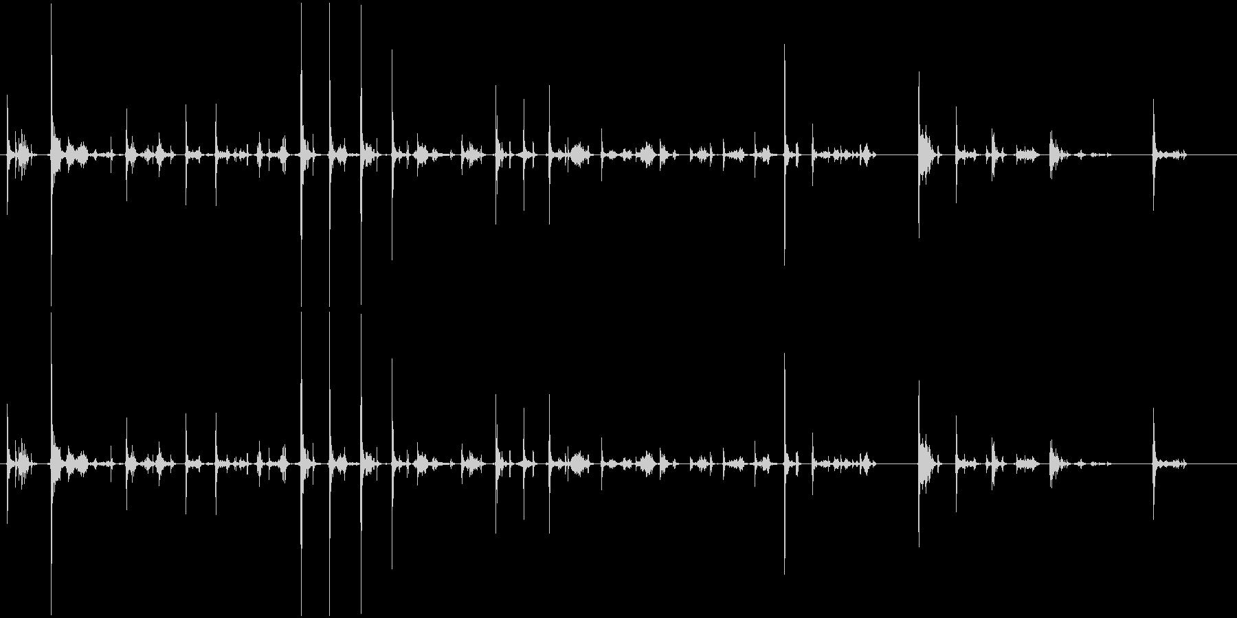 カーカー(ボールペンで書く音)Cの未再生の波形