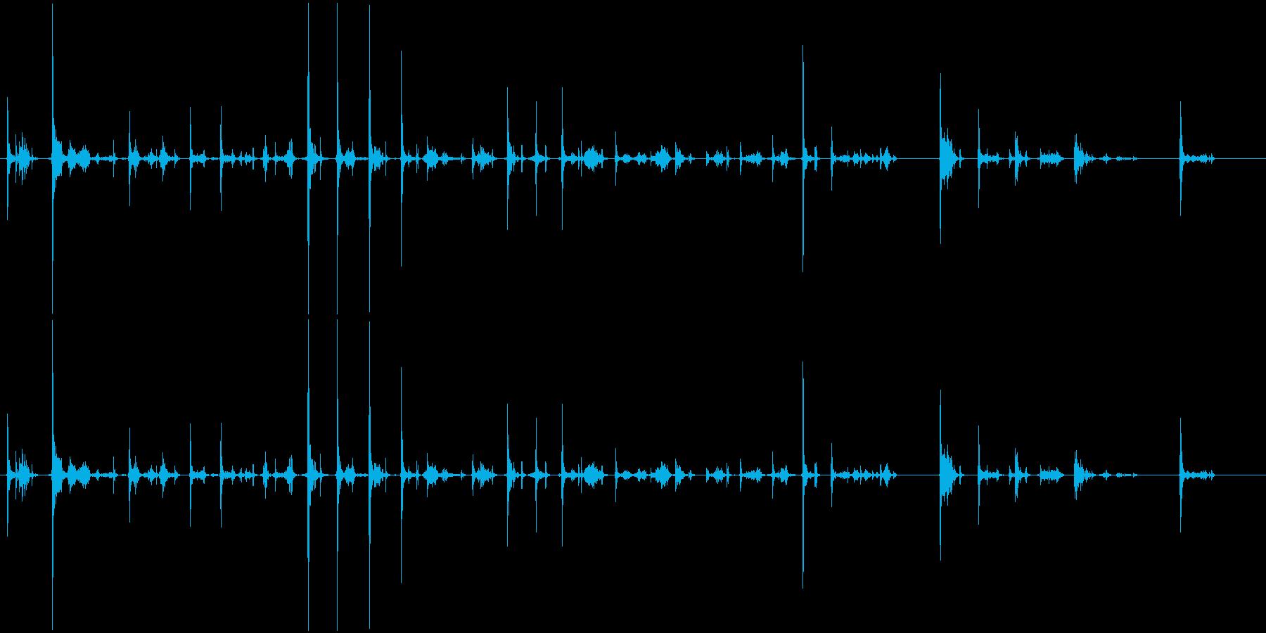 カーカー(ボールペンで書く音)Cの再生済みの波形