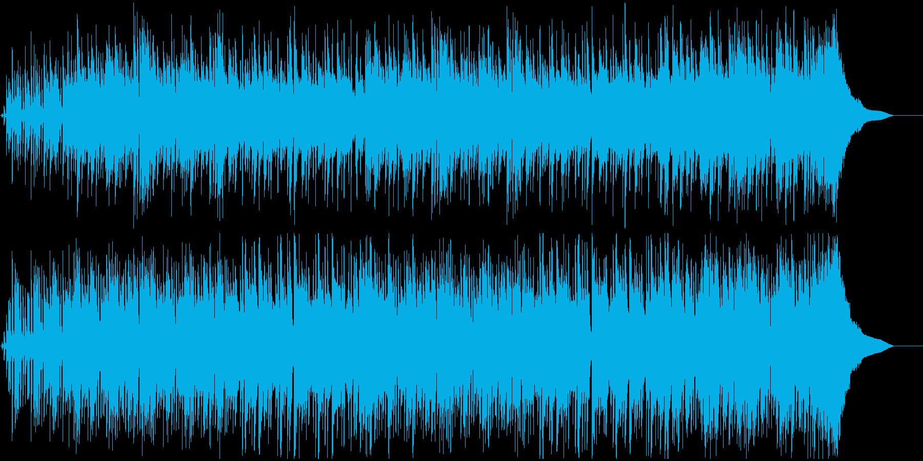 おしゃれでかっこいいドラムとピアノの再生済みの波形