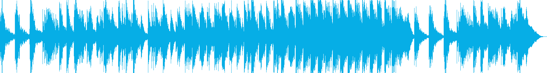 【リラクゼーション】落ち着いた映像向けの再生済みの波形