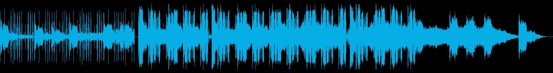 ピアノとシンセのチル・ヒップホップの再生済みの波形