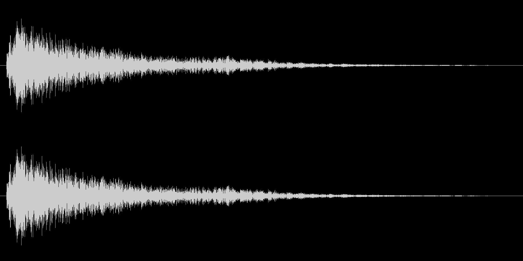 ゴング 高い音 短いの未再生の波形