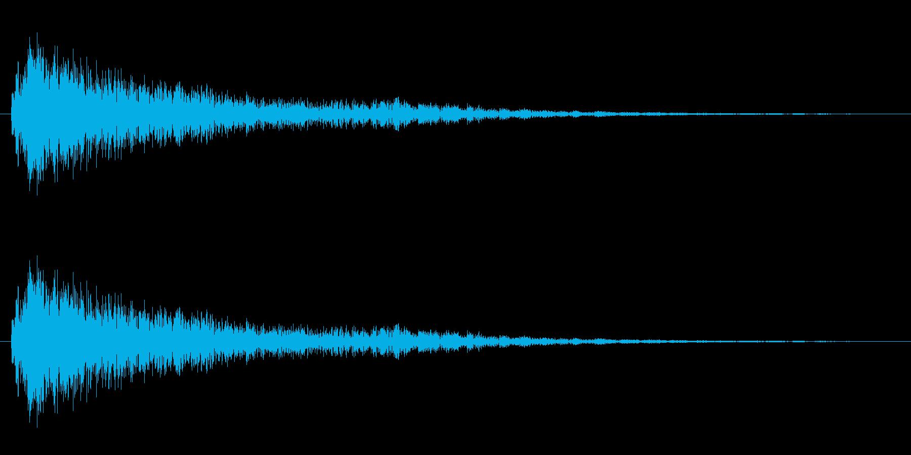 ゴング 高い音 短いの再生済みの波形