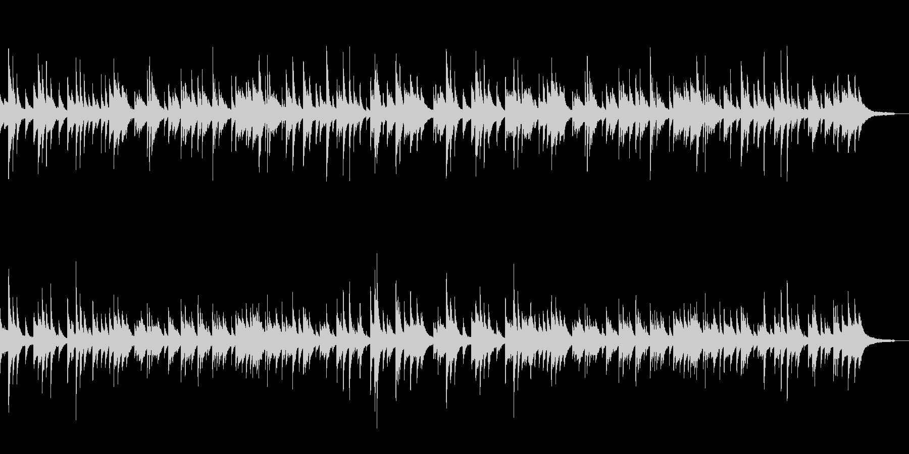 優しいメロディのピアノソロ テンポ101の未再生の波形