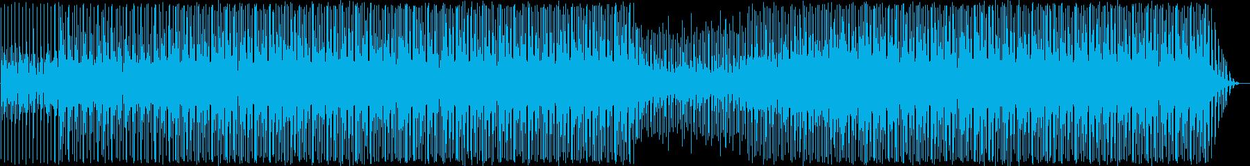 リズミカルでハーモニックな要素がた...の再生済みの波形