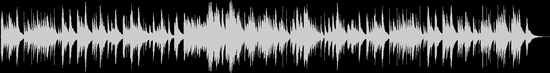 ほのぼのした雰囲気なオルゴール曲の未再生の波形