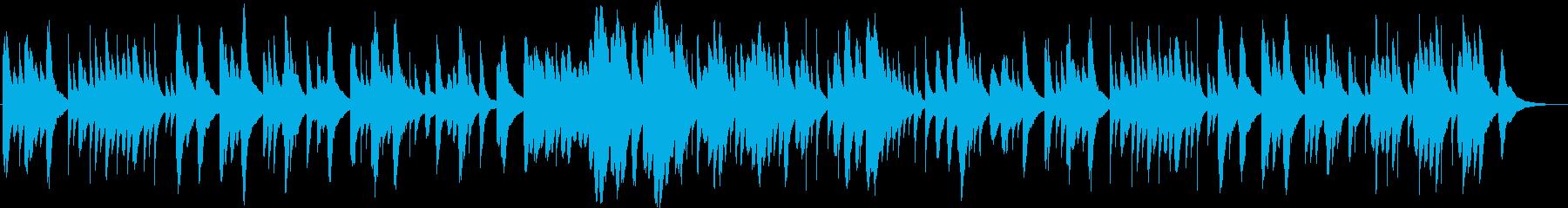 ほのぼのした雰囲気なオルゴール曲の再生済みの波形