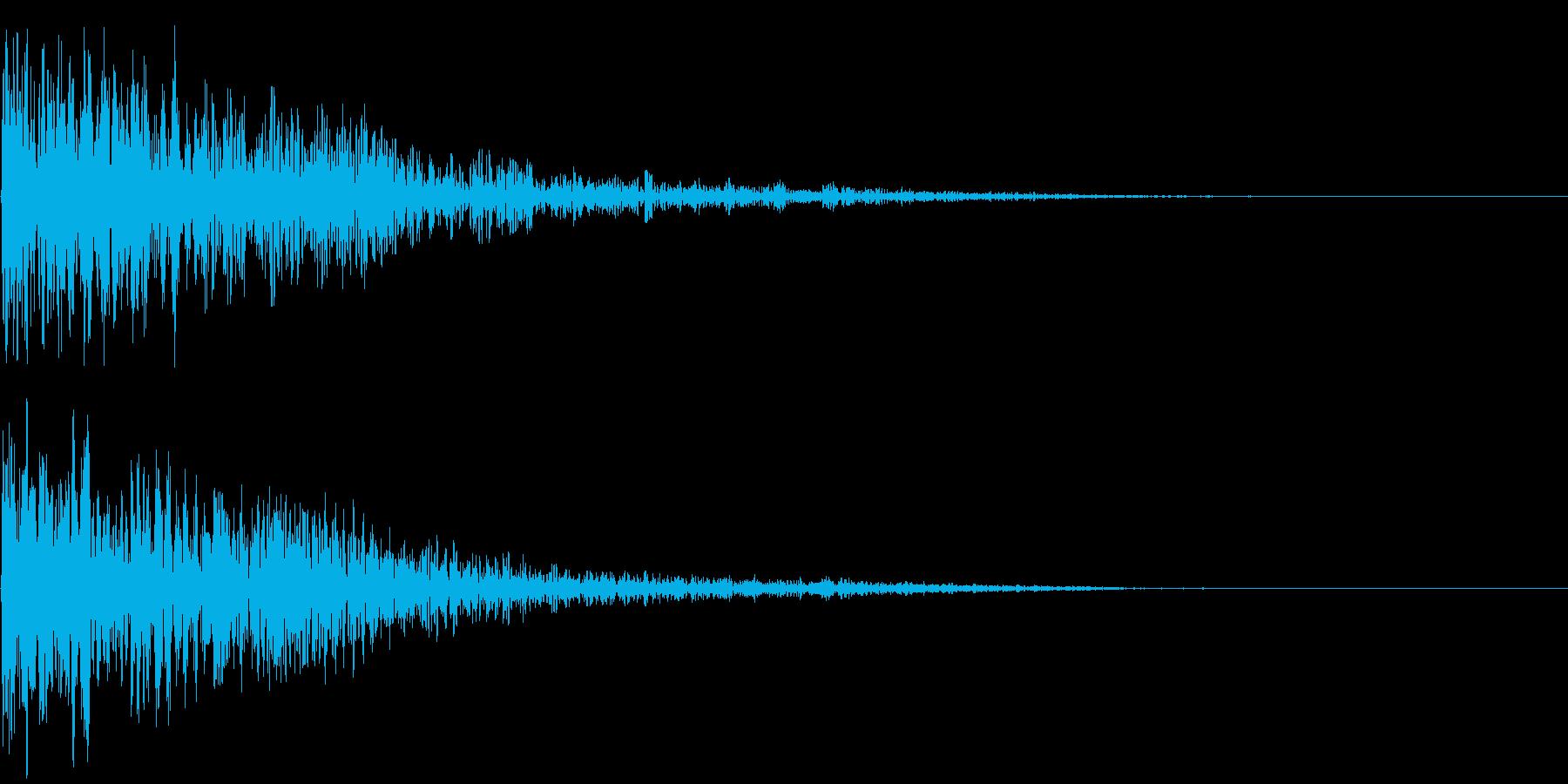 【SF映画演出】衝撃音 ドウーンッッの再生済みの波形