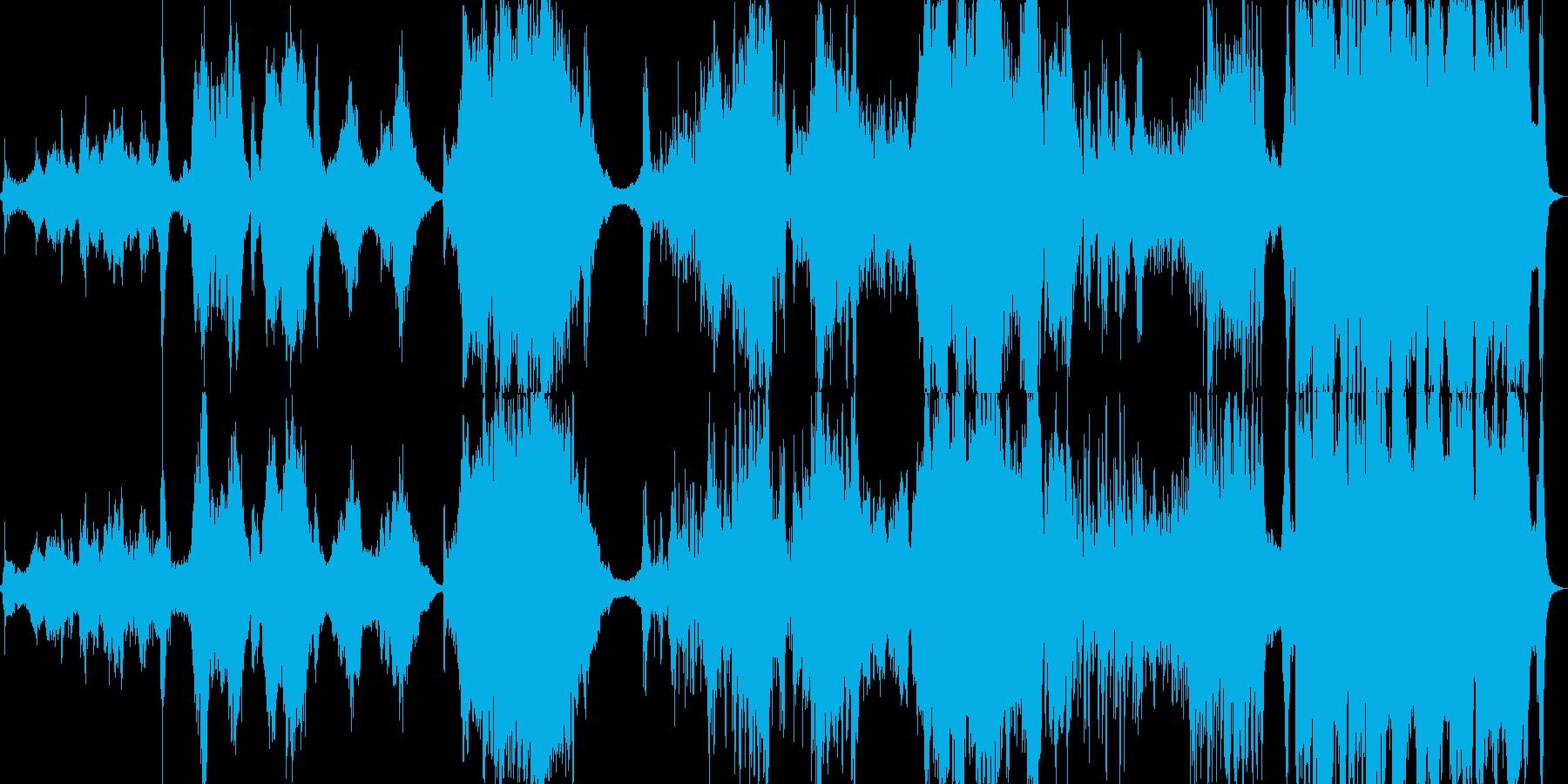 アラビア風のオーケストラ組曲の再生済みの波形