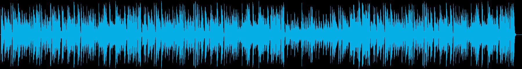 【生演奏】小気味よいお洒落なジャズピアノの再生済みの波形