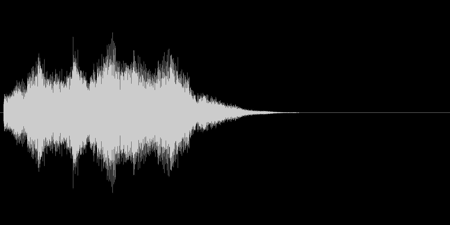 クリーントーンのエレキギター  ジングルの未再生の波形