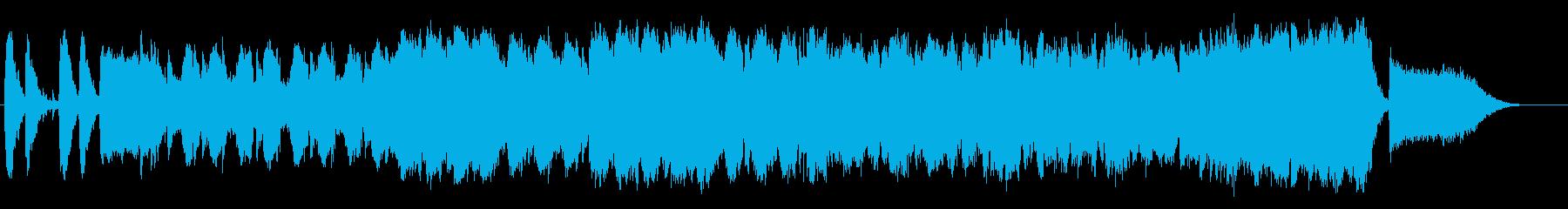 ハラハラするスパイ映画風BGMの再生済みの波形