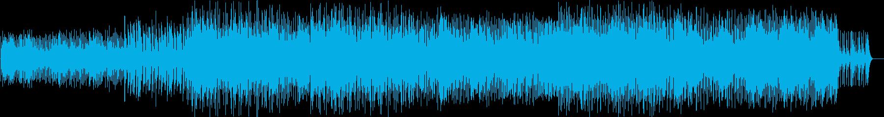 軽快でスピード感のあるカリンバの再生済みの波形